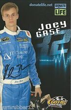 """SIGNED 2016 JOEY GASE """"JT CONCRETE IN GO FAS"""" #32 NASCAR SPRINT CUP POSTCARD"""