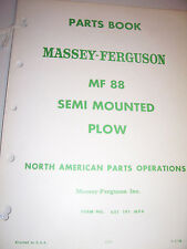 VINTAGE MASSEY FERGUSON  PARTS MANUAL -  MF  88  SEMI MOUNTED  PLOW