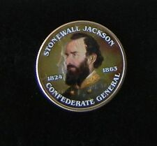 VERY NICE Stonewall Jackson Colorized Coin On An UNCIRCULATED Kennedy 1/2 Dollar