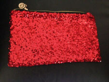 RED Both side Sequin Bling Clutch Party Bag Purse for Women Girls Top dress
