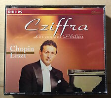 RARE 4 CD - CZIFFRA CHOPIN LISZT - LES ANNEES PHILIPS - 434 547-2 - FRENCH PRESS