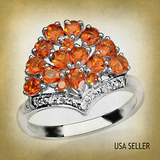 TGW 1.70 cts. Jalisco Mexican Fire Opal (Pear) White Topaz Ring