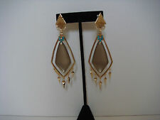 Alexis Bittar Lucite Picture Jasper Dangling Spike Chandelier Clip On Earrings