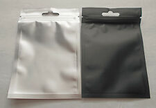 25 Clear/Black 3.25x5 Foil Pouches Hang Hole Mylar Zip Bag Food Safe Smell Proof
