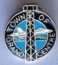 Town Of Grand Centre Fighter Jet Air Force Pin Badge Rare Vintage Aircraft (G4)