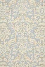 Schumacher Bird Upholstery Fabric- Aldwyn Damask/Robins Egg 4.0 yd (1328000)