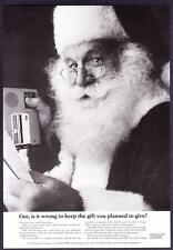 "1966 Santa Claus photo ""Everyone Gets a Gift but Me"" IBM 224 Dictating Unit Ad"