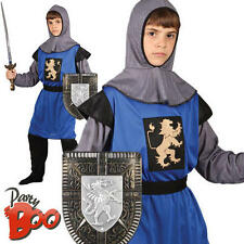 Medieval Knight Age 8 9 10 Kids Fancy Dress Boys Childrens Costume Child Outfit