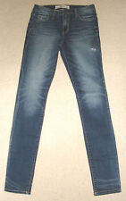 BNWT ABERCROMBIE & FITCH A&F HIGH RISE SUPER SKINNY BLUE JEANS W27 RRP £78