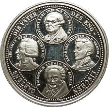 Silver 1989 English Garden 200 Years Commemorative Medallion Coin Munich i39637