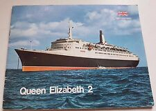 Vintage 1960s Cunard QE2 Brochure Queen Elizabeth 2nd Cruise Ship