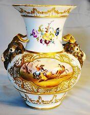 Exceptional Antique KPM Porcelain Royal Berlin Battle Scenes Rams Head Vase