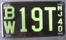 1940 New Jersey High Quality Passenger license plate