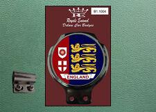 Royale Classic Car Badge & Bar Clip ENGLAND 3 LIONS RED BLUE Mod Vespa B1.1004