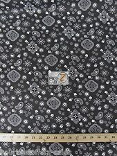 Bandana Print Fabric Black Paisley Bandana Fabric By The Yard Art Supplies New