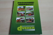 128531) Dücker Maschinen - Modellprogramm - Prospekt 04/2012