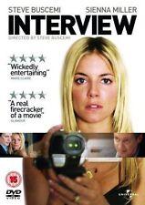 INTERVIEW STEVE BUSCEMI SIENNA MILLER UNIVERSAL UK 2008 REGION 2 DVD NEW SEALED