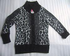 CHARLOTTE TARANTOLA Cardigan Sweater Animal Print Womens Size Medium *Play