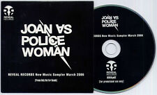 JOAN AS POLICE WOMAN Reveal New Music Sampler 2006 UK 12-track promo only CD