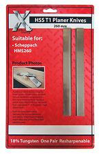 Suit Scheppach HMS260 Planner Blade Knives One pair 260183