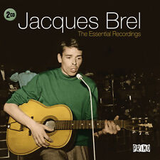 Jacques Brel ESSENTIAL RECORDINGS Best Of 40 Songs COLLECTION Chanson NEW 2 CD