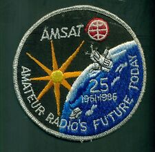 1986 Amatuer Radio AMSAT 25 Year Embroidered Patch