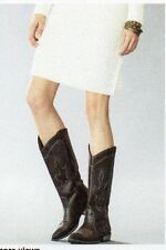 "NEW WOMENS (TEEN) ""RAMPAGE"" TALL WESTERN BOOTS - SIZE: 7 M   COLOR: BROWN"