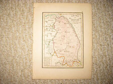 ANTIQUE 1836 TRIBE OF MANASSEH BEYOND JORDAN ISRAEL MAP JEWISH JUDAISM TORAH NR