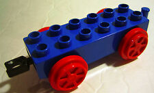 Lego Duplo BLUE TRAIN CAR BASE Red Wheels 2x6 Railroad Replacement Accessory