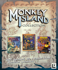 MONKEY ISLAND 1 + 2 + 3  XP + VISTA + 7 + 8  die COLLECTION alle in DEUTSCH