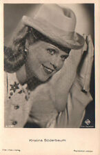 OLD POSTCARD ACTRESS GERMANY  KRISTINA SÖDERBAUM  YEARS 1940 SEE MY STORE CC1285