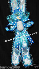 BABY SHOWER SASH RIBBON BLUE BOY MOMMY TO BE SASH HAND MADE DECORATION BOTTLE