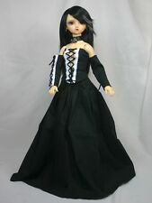 4 piece Black Goth Dress OUTFIT w WIG for 1/3 BJD Girl Volks SD SD13 CP Delf