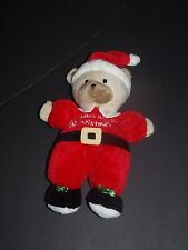 """Carter's Just One Year Teddy Bear Baby's First Christmas Plush Rattle 9"""""""