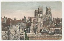 Old Frith's Series Postcard, 32032, York Minster and Bootham Bar