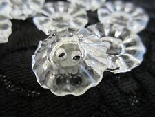 """3/4"""" VINTAGE  INSPIRED """"RUFFLE"""" Buttons (8 pc)  CLEAR"""