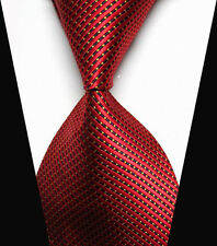 Mens Red&Yellow Striped Ties WOVEN JACQUARD Silk Men's Suits Tie Necktie NT158