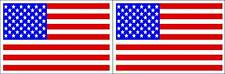 "LOT OF 2 GLOSSY STICKERS, ""U.S.A. FLAG"", FOR INDOOR OR OUTDOOR USE"