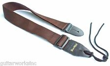 Guitar Strap For Acoustics Electrics Basses & Mandolin Brown Nylon Made In USA