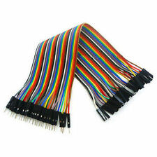 40Pcs Male to Female NEW for Arduino Breadboard Dupont Cable Wire Jumper 20cm