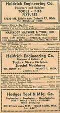 1946 Heidrich Engng Co Detroit Hodges Tool Mfg Co Grand Rapids Ad