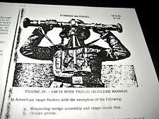 WWII EM 34 Rangefinder Optics Manual Pamphlet US/German Text for Ordnance School