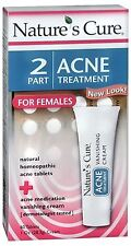 Nature's Cure 2 Part Acne Treatment for Females 1 Each
