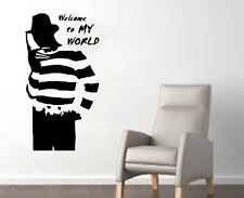 Freddy from Nightmare on Elm Street Welcome to My World Halloween Wall Decal