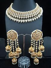 Polki kundan Indian wedding wear womens Necklace set bollywood jwellery Earrings