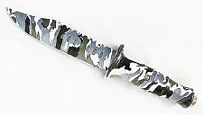 Military Winter Camo Survival Bowie with Sheath -- sca/dagger/knife/USMC/marines