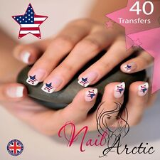 American Star nail Wraps Water Transfers Decal Art Stickers x 40