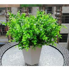 7 Branches Artificial Plastic Eucalyptus Plant Flowers Office & Home Decor Green