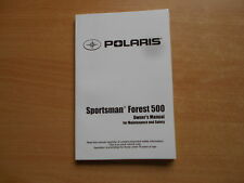 Owners manual (maintenance safety) Polaris Forest 500