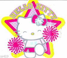 "5"" HELLO KITTY PEP RALLY CHEER WALL SAFE STICKER  BORDER CHARACTER  CUT OUT"